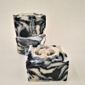 charcoal loofah shower bar
